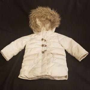 Baby Gap Puffer Winter Jacket / Coat / Parka Cream